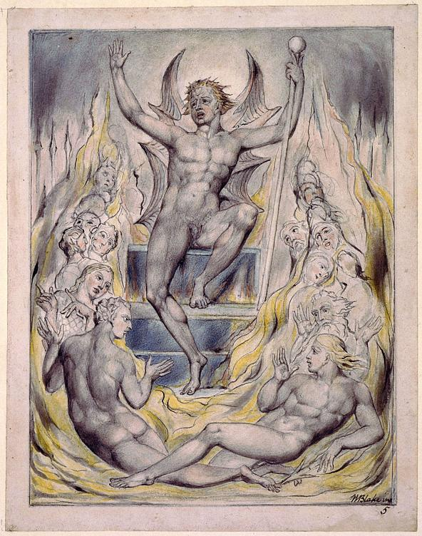 Satan Addressing his Potentates - William Blake