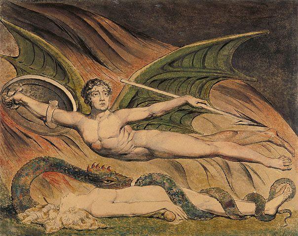 Satan Exulting over Eve - William Blake