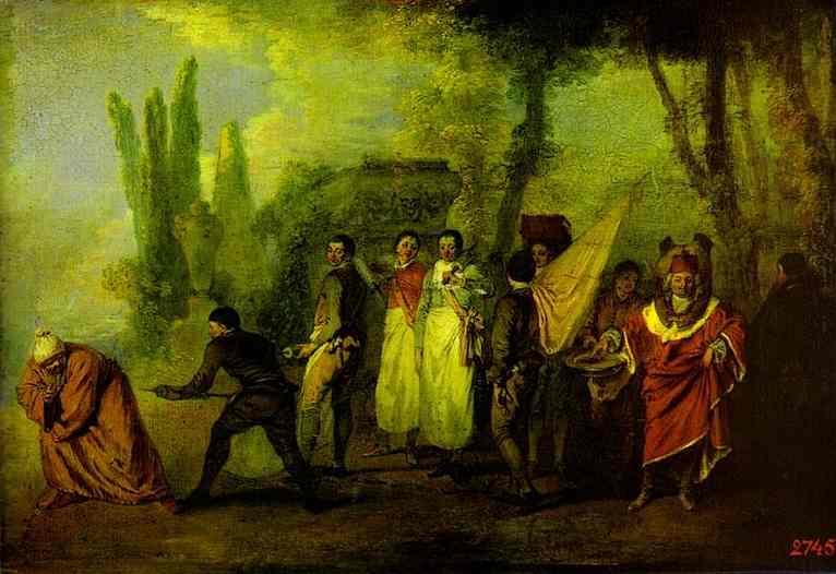 Satire on Physicians - Antoine Watteau