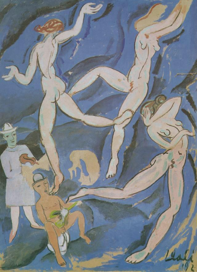 Satirical Composition ('The Dance' by Matisse) - Salvador Dali