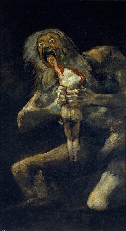 Saturn Devouring His Son - Francisco Goya