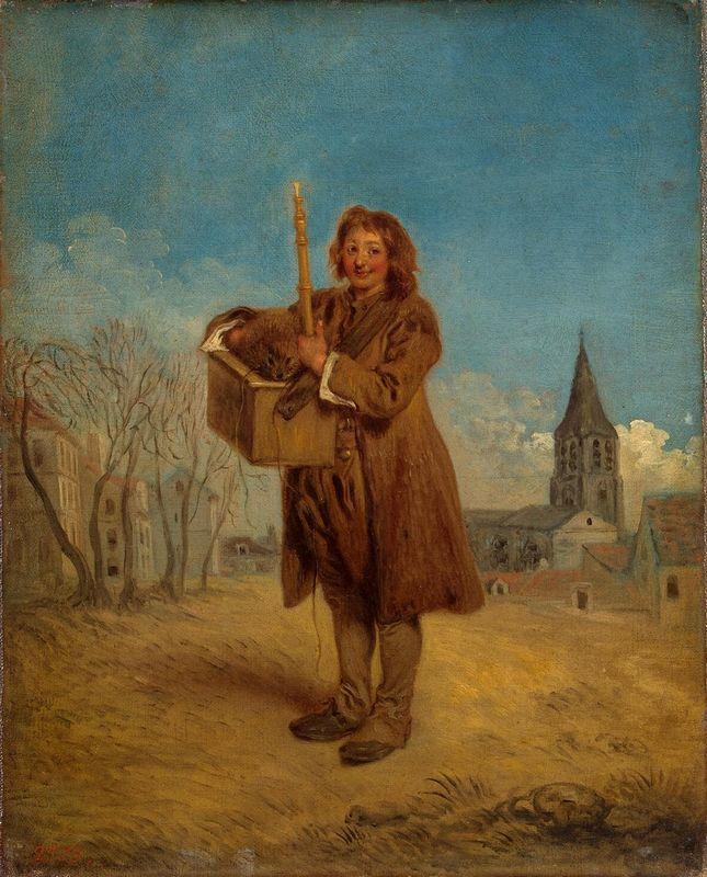 Savoyard with a marmot - Antoine Watteau