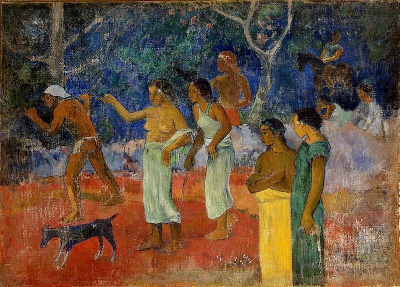 Scene from Tahitian Life - Paul Gauguin