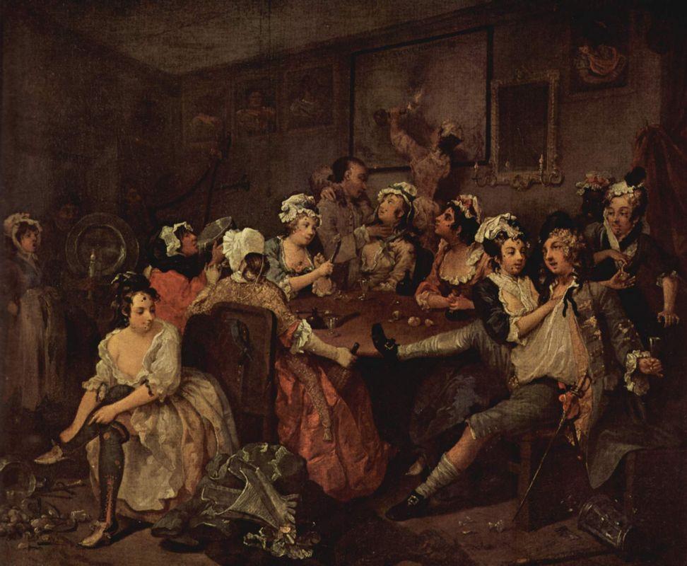 Scene in a tavern - William Hogarth
