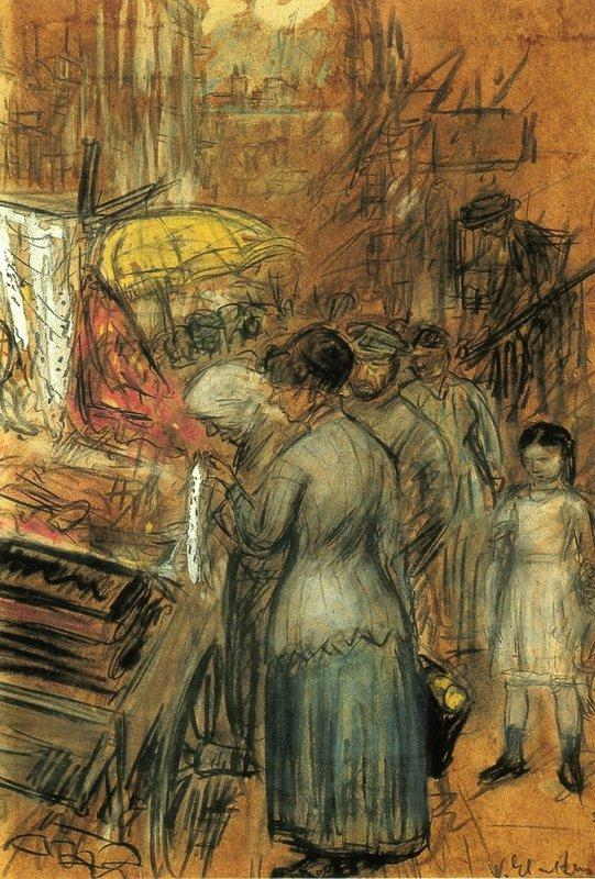 Scene on the Lower East Side - William James Glackens