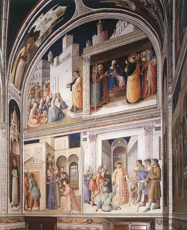 Scenes from the Lives of Sts. Lawrence and Stephen - Fra Angelico