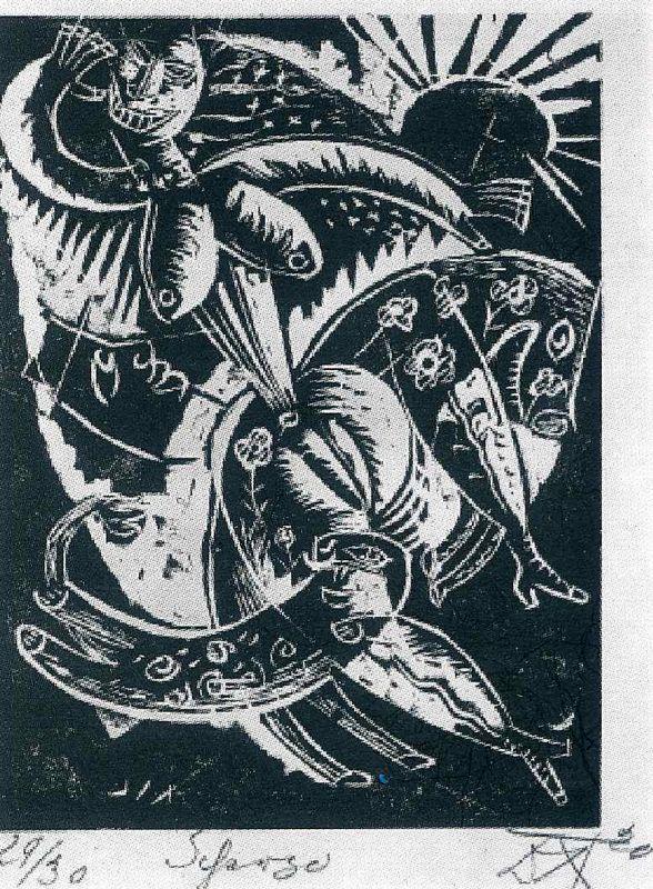 Scherzo from the portfolio Nine Woodcuts  - Otto Dix