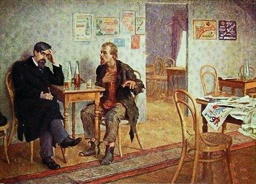 School Friends - Nikolay Bogdanov-Belsky