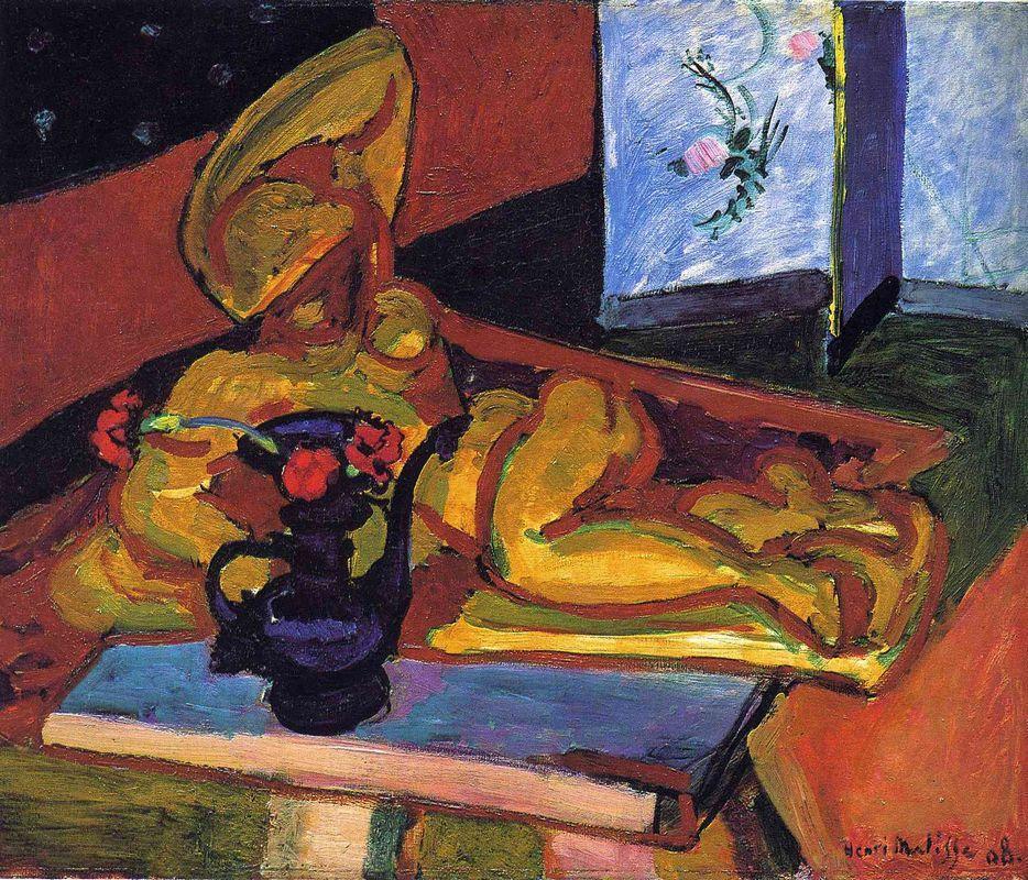 Sculpture and Persian Vase - Henri Matisse