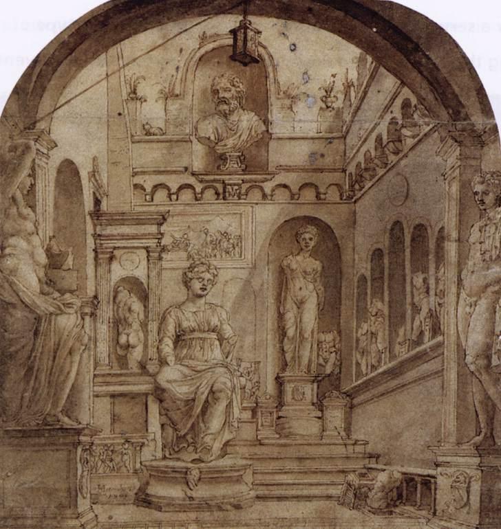 Sculpture Court of the Casa Sassi in Rome - Maerten van Heemskerck