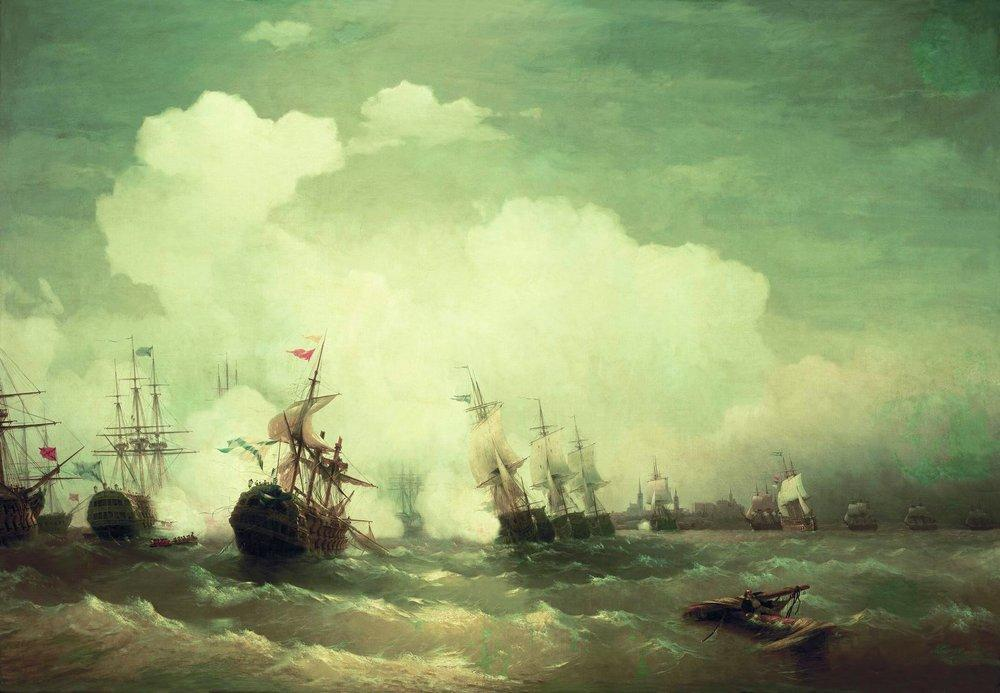 Sea battle at Revel - Ivan Aivazovsky