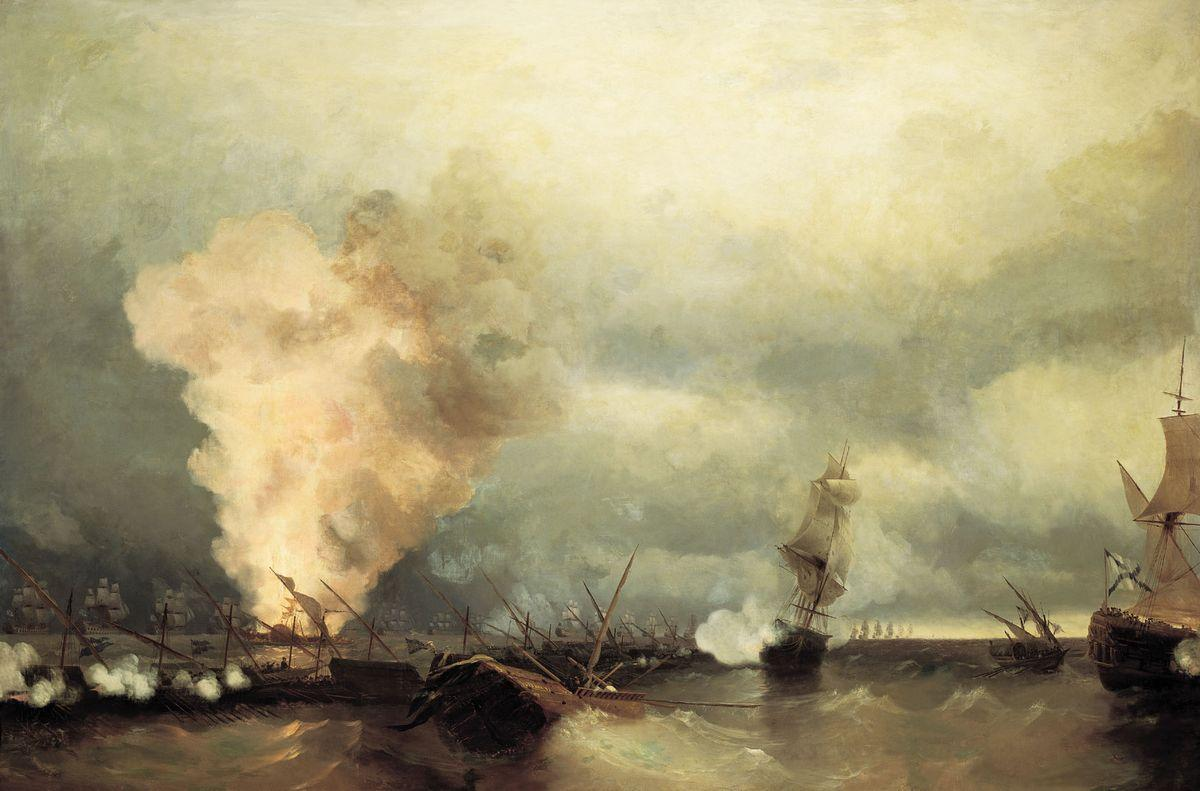 Sea battle near Vyborg - Ivan Aivazovsky