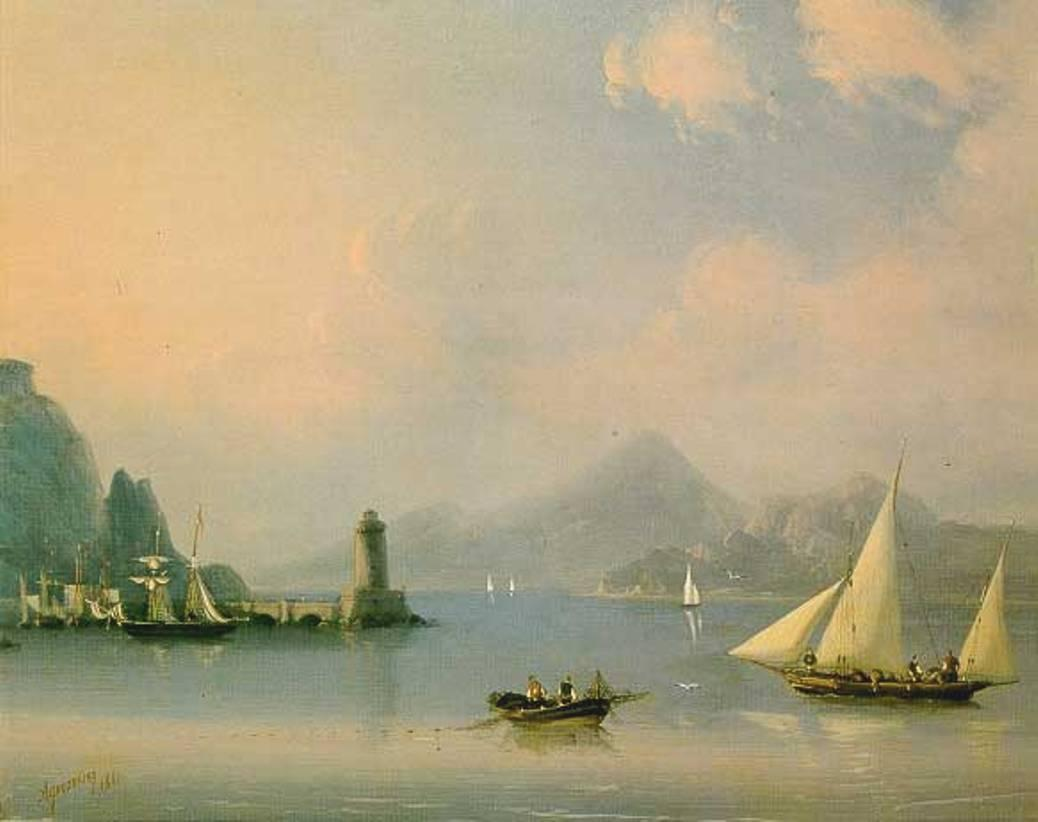 Sea channel with lighthouse - Ivan Aivazovsky