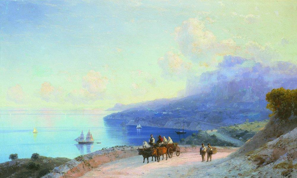 Sea coast. Crimean coast near Ai-Petri - Ivan Aivazovsky