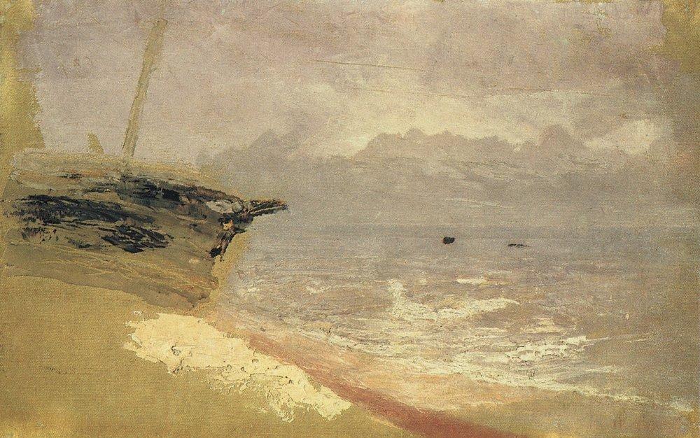 Sea. Gloomy Day - Arkhip Kuindzhi