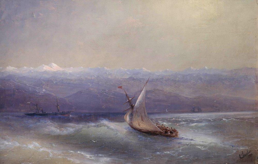 Sea on the mountains background - Ivan Aivazovsky
