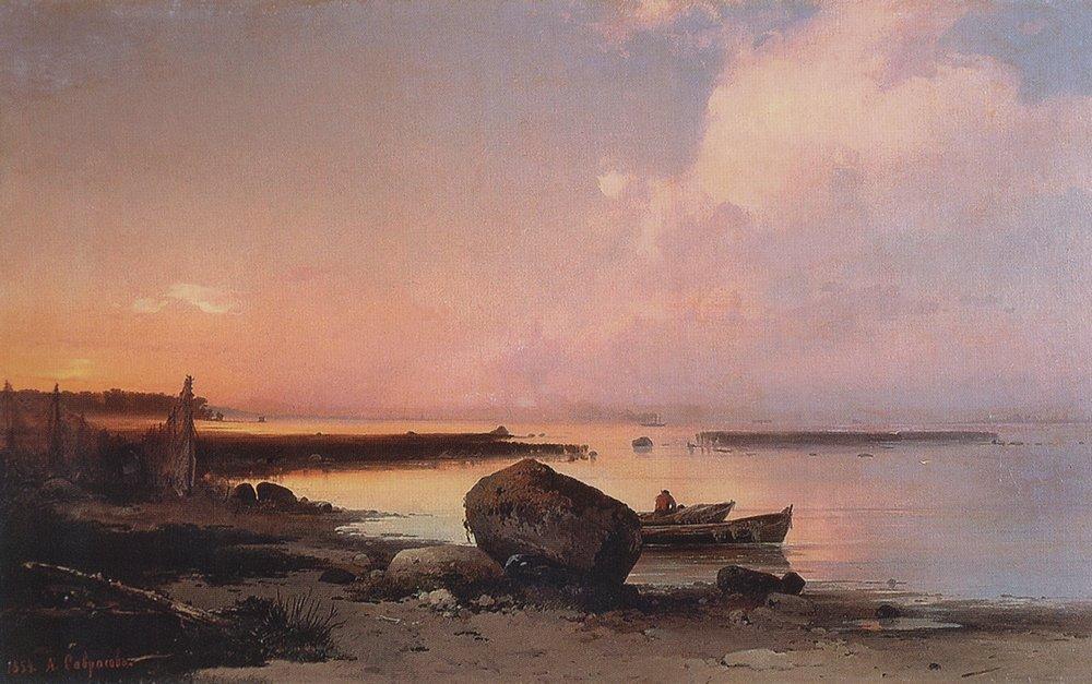 Sea shore in the vicinity Oranienbaum - Aleksey Savrasov