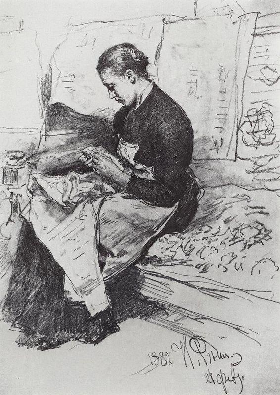 Seamstress - Ilya Repin