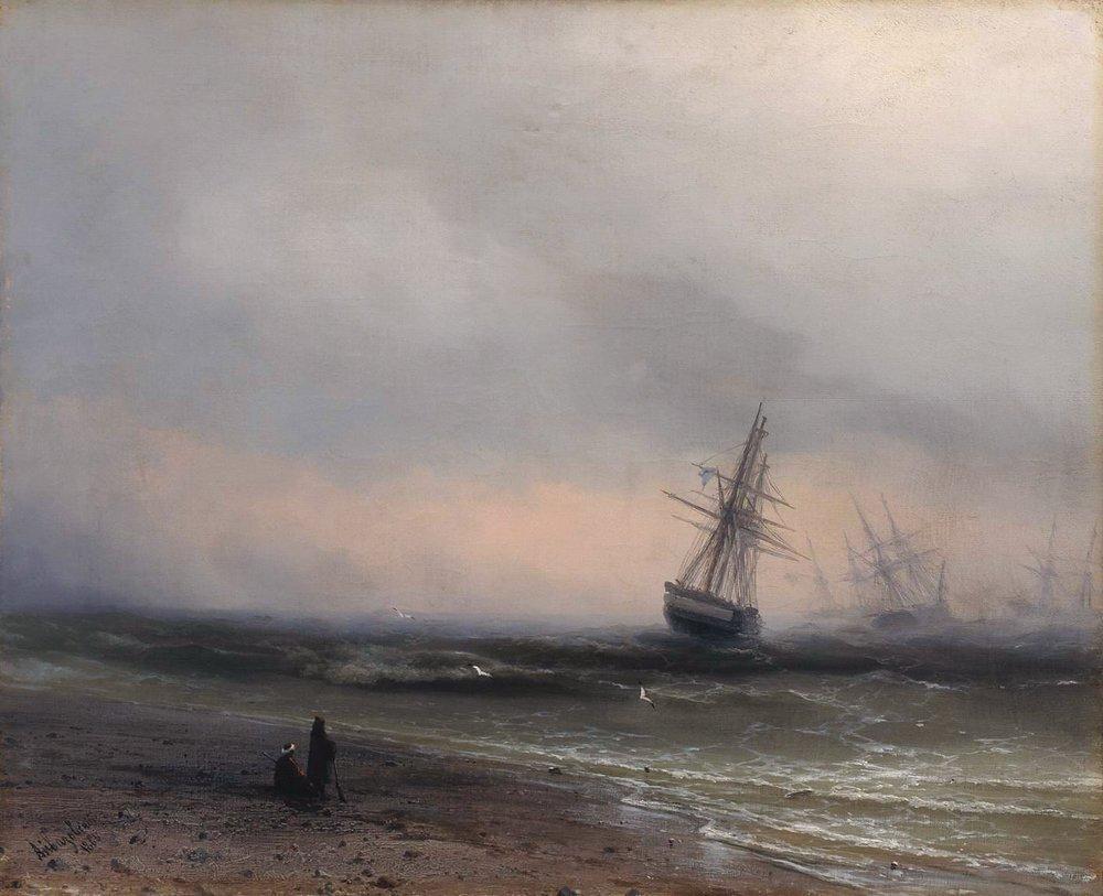Seascape in Crimea - Ivan Aivazovsky