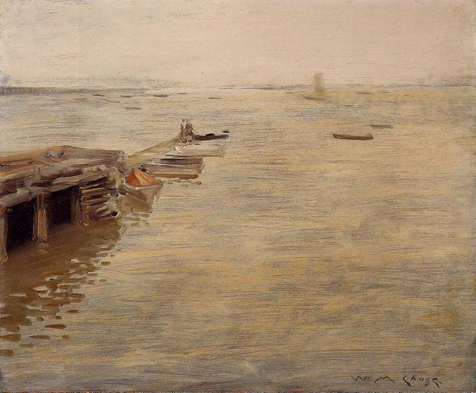 Seashore (aka A Grey Day) - William Merritt Chase