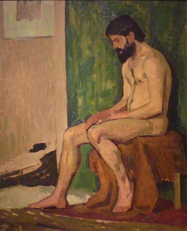 Seated bearded man  - Roger de La Fresnaye