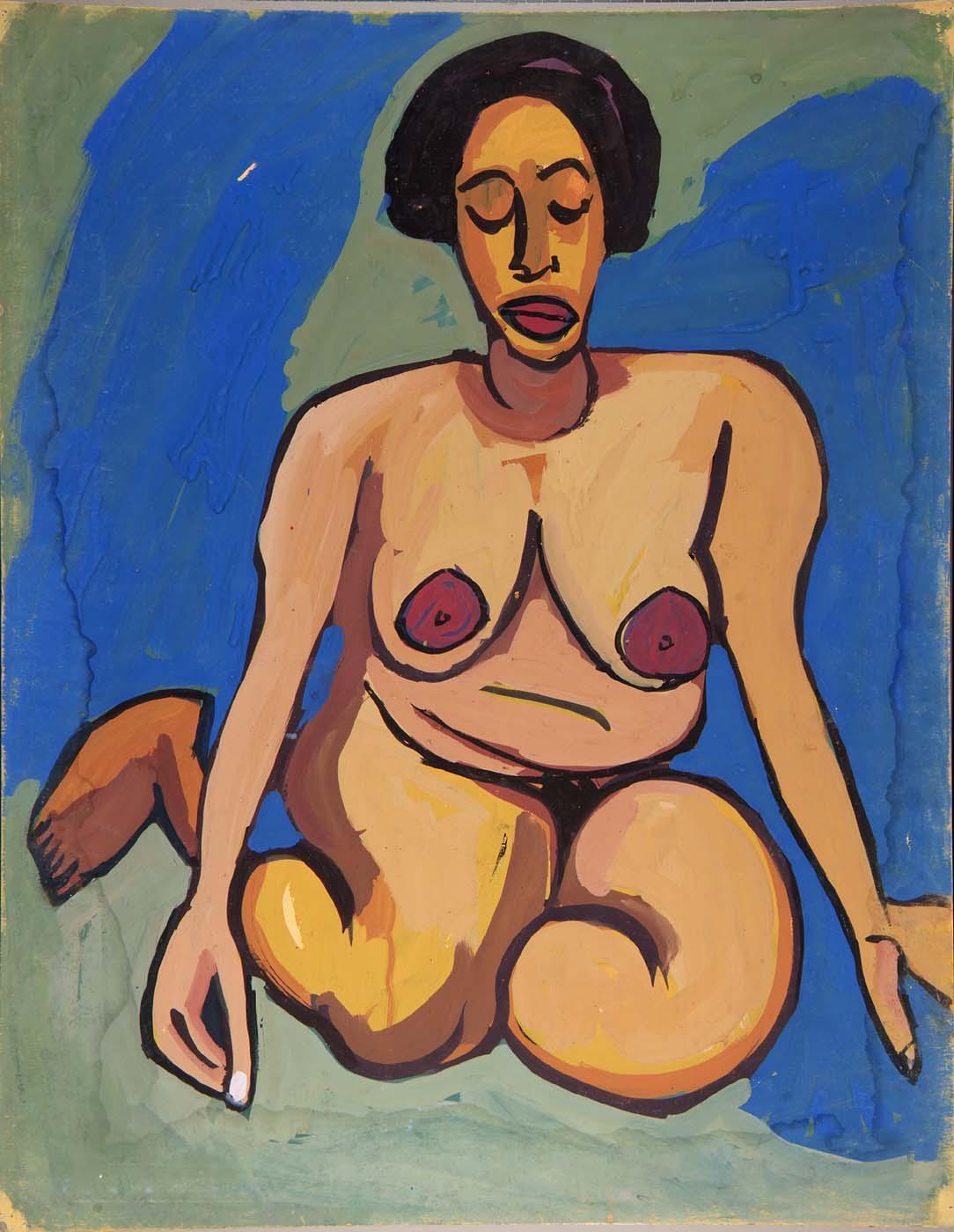 Seated Female Nude - William H. Johnson