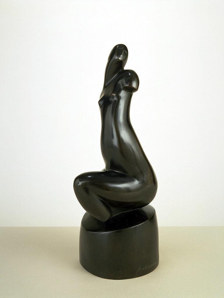 Seated Female Nude  (Black Torso)  - Olexandr Archipenko