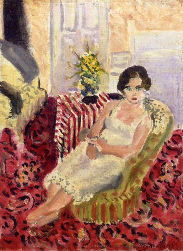 Seated Figure, Striped Carpet - Henri Matisse