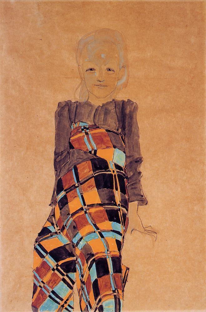 Seated Girl - Egon Schiele