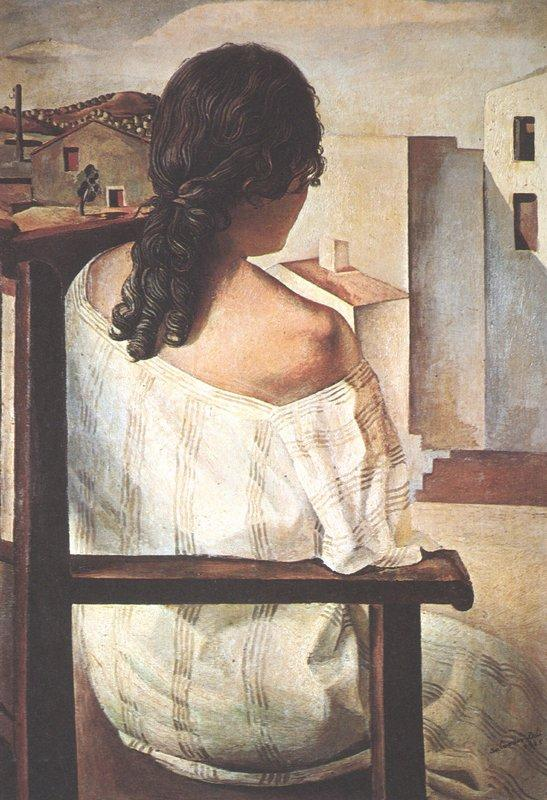 Seated Girl Seen from the Back - Salvador Dali