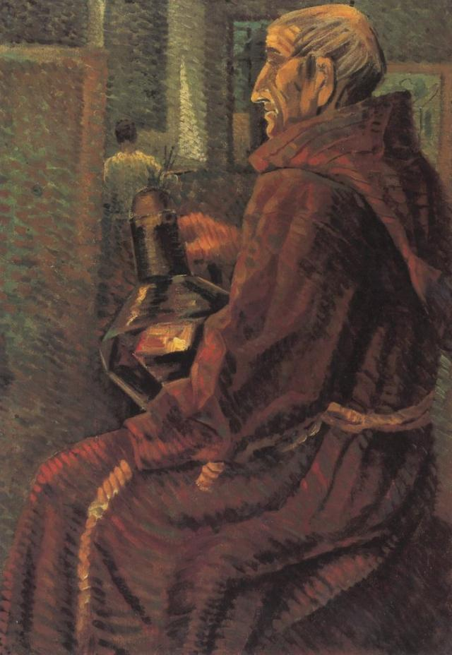 Seated Monk - Salvador Dali