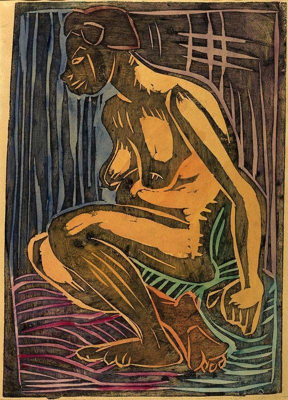 Seated Nude - William H. Johnson