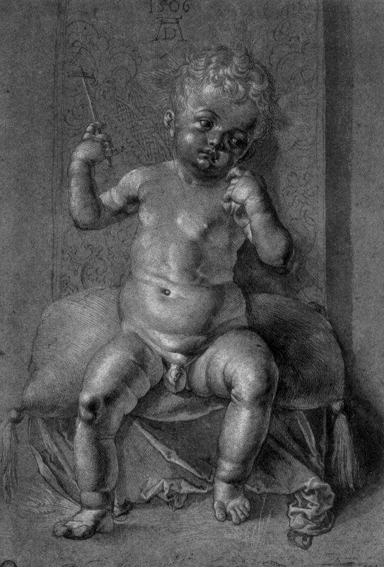 Seated Nude Child - Albrecht Durer