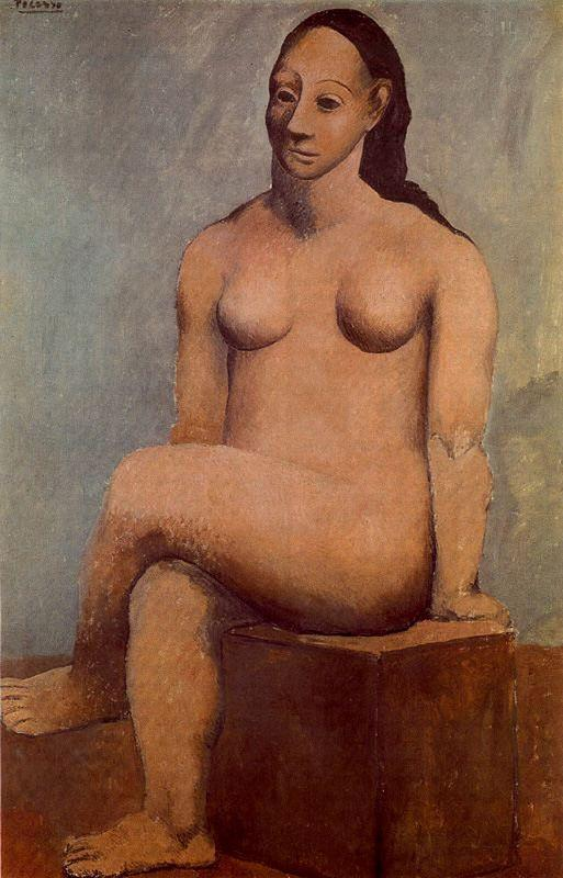 Seated nude with her legs crossed - Pablo Picasso