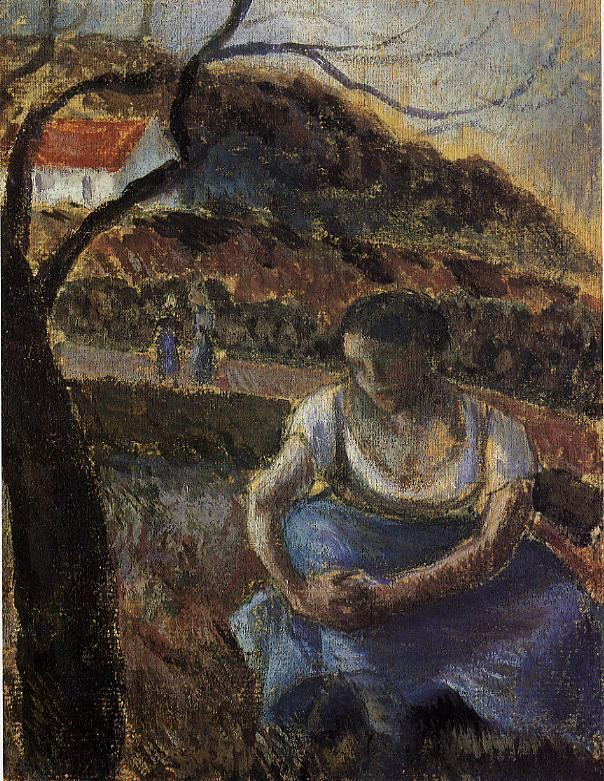 Seated Peasant Woman - Camille Pissarro