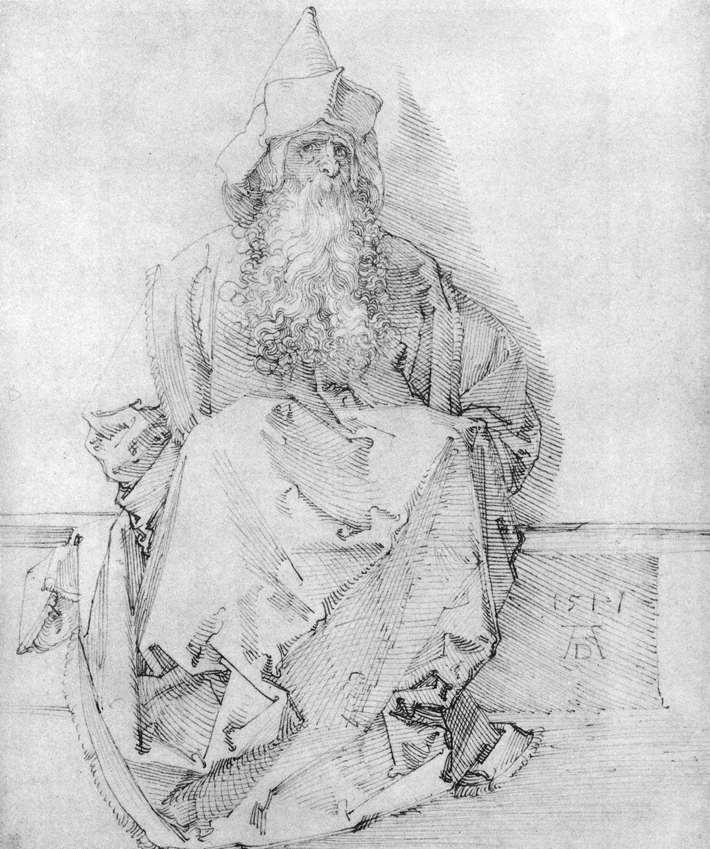 Seated Prophet - Albrecht Durer