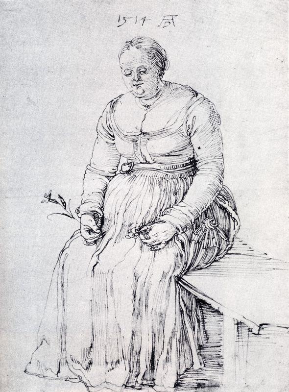Seated Woman - Albrecht Durer