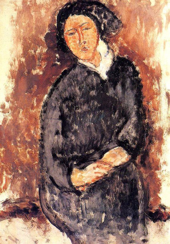 Seated Woman - Amedeo Modigliani
