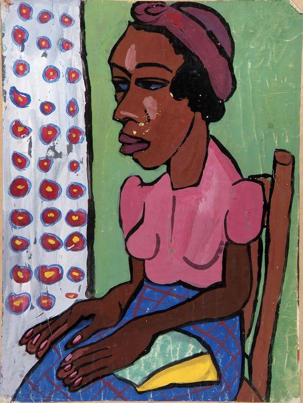 Seated Woman in Pink Blouse - William H. Johnson