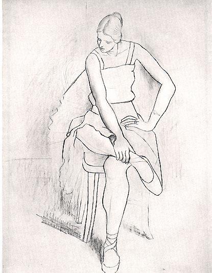 Seated woman (Olga) - Pablo Picasso