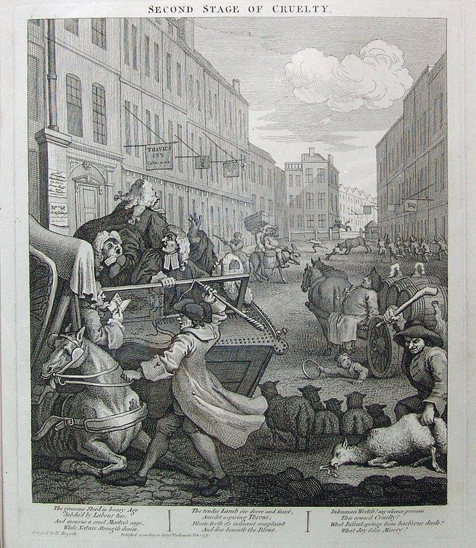 Second stage of cruelty - William Hogarth