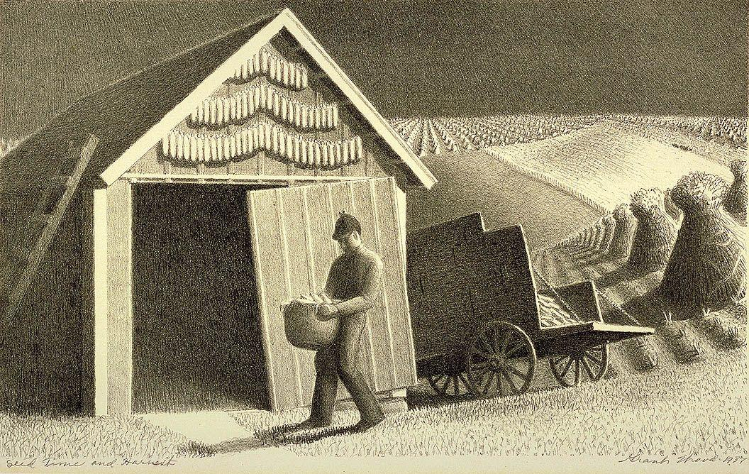 Seed Time and Harvest  - Grant Wood