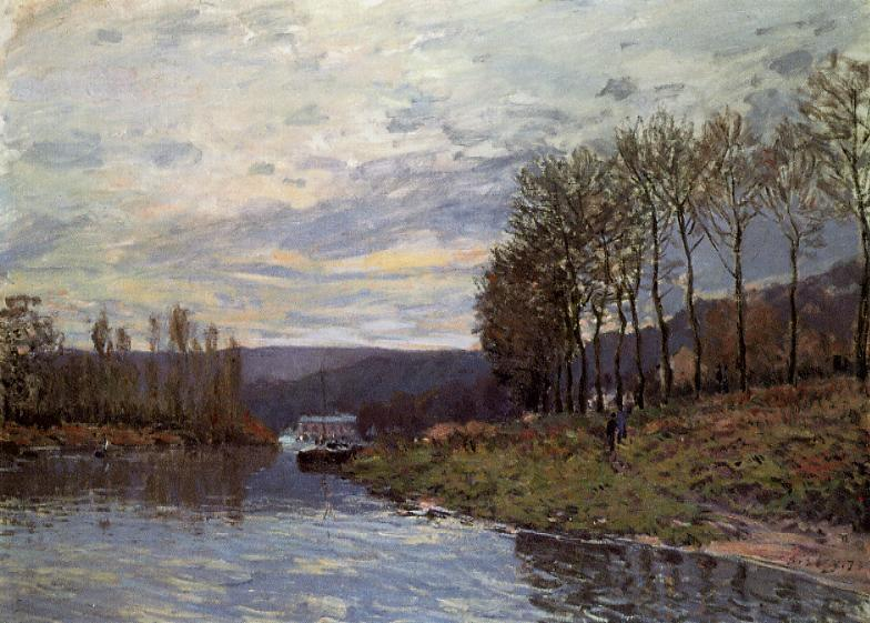 Seine at Bougival - Alfred Sisley