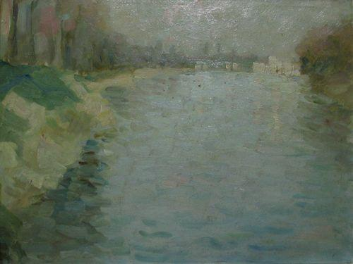 Seine at Courbevoie - Nicolae Tonitza