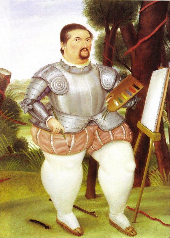 Self-Portrait as Spanish Conquistador - Fernando Botero