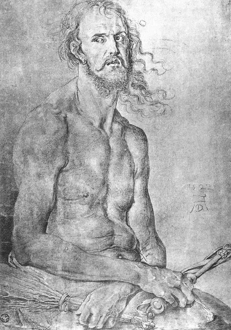 Self-Portrait as the Man of Sorrows - Albrecht Durer
