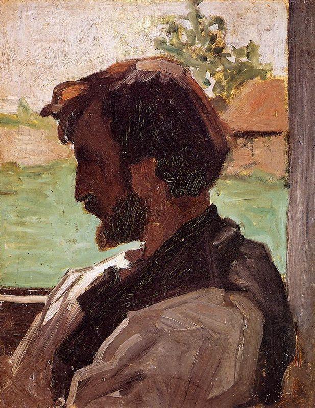 Self-Portrait at Saint-Saveur - Frederic Bazille