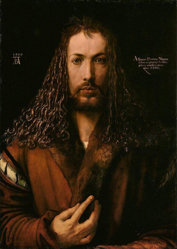 Self-Portrait at the Age of Twenty Eight - Albrecht Durer