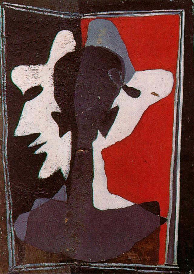 Self-Portrait Being Duplicated into Three - Salvador Dali