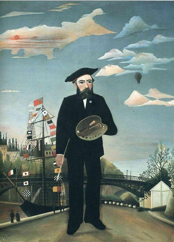 Self Portrait from L'ile Saint Louis - Henri Rousseau